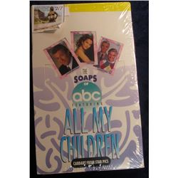 """717. Original Wrapped Wax Box of """"The Soaps of abc Featuring All My Children"""", Cardart from Star Pic"""