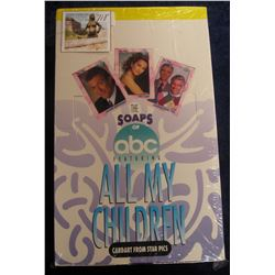 """718. Original Wrapped Wax Box of """"The Soaps of abc Featuring All My Children"""", Cardart from Star Pic"""