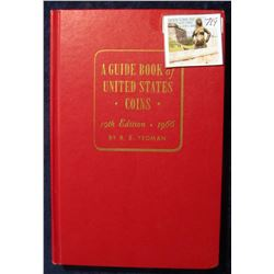 """719. """"A Guide Book of United States Coins"""" 19th Edition. 1966. By R.S. Yeoman. Hardbound., excellent"""