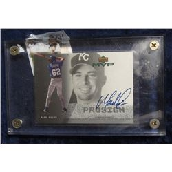 737. 2000 Upper Deck Most Valuable Player Mark Quinn Card in heavy Lucite case.