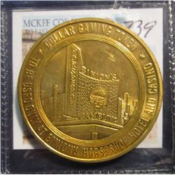 """739. Binion Horseshoe $1 Gaming Token. From the Famous Ted Binion """"Horseshoe Casino"""".  Ted Binion is"""