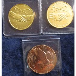 744. (3) US Mint produced medals – 2003 Theodore Roosevelt National Wildlife Refuge System / Bald Ea