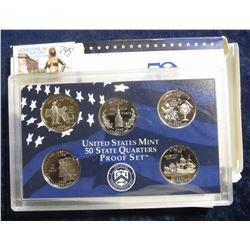 748. 2000 S U.S. Mint State Quarter Proof Set. (5 pcs.) Original as issued.
