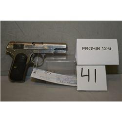 Colt Model 1903 Pocket Hammerless .32 Auto cal 8 Shot Semi Auto Pistol w/95 mm bbl [ fading blue fin