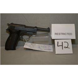 Walther ( ac 43) Model P38 .9 MM Luger cal 8 Shot Semi Auto Pistol w/ 127 mm bbl [ Nazi marked , blu