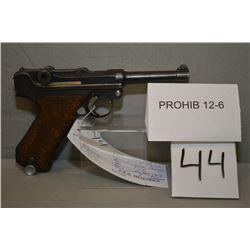 Luger ( DWM ) Model P08 Dated 1918 .9 MM Luger cal 8 Shot Semi Auto PIstol w/ 102 mm bbl [ blued fin