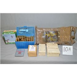 Tray Lot : Asstd Military Ammo ; rubber pkg containing 7.62 x 51 ball ammo - plus 4 boxes 7.62 Milit