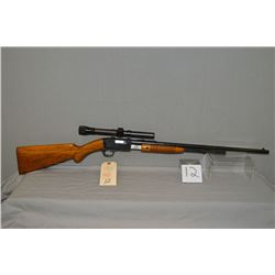 """Browning ( Belgian ) Model Trombone .22 Long Only Tube Fed Pump Action Rifle w/ 22"""" bbl [ good blued"""