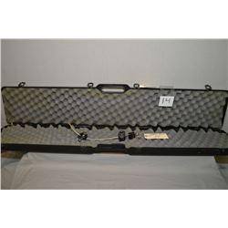 Hoppes Foam Lined Black Plastic Luggage Style Gun Case [ w/ 2 Master trigger locks keys the same, &