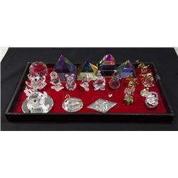 Lot of Swarovski & Cut Crystal Figurines
