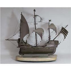 Brass Model Ship