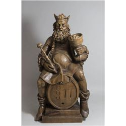 Carved Wood Sculpture of a King