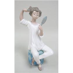 Lladro Boy with Comb & Mirror