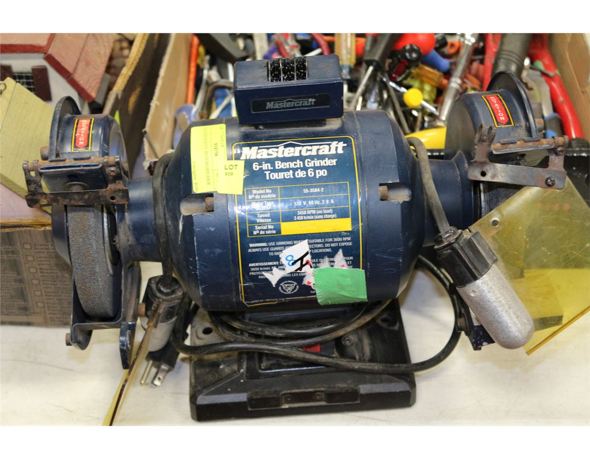 Pictures On Master Craft Bench Grinder With Lights