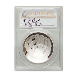 2014-P $1 Darryl Strawberry Signed HOF Coin PCGS PF70