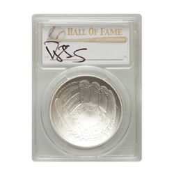 2014-P $1 Darryl Strawberry Signed HOF Coin PCGS MS70
