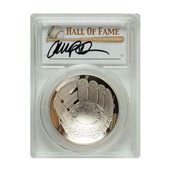 2014-P $1 Ryne Sandberg Signed HOF Coin PCGS PF70