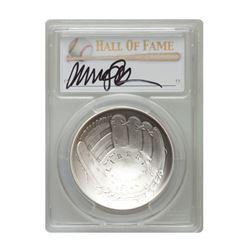 2014-P $1 Ryne Sandberg Signed HOF Coin PCGS MS70