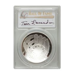2014-P $1 Tommy Lasorda Signed HOF Coin PCGS PF70
