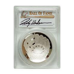 2014-P $1 Rickey Henderson Signed HOF Coin PCGS PF70
