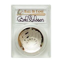 2014-P $1 Bob Gibson Signed HOF Coin PCGS PF70