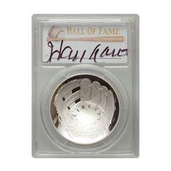 2014-P $1 Hank Aaron Signed HOF Coin PCGS PF70