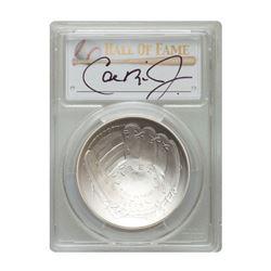 2014-P $1 Cal Ripken Jr. Signed HOF Coin PCGS MS70