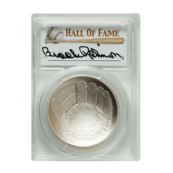 2014-P $1 Brooks Robinson Signed HOF Coin PCGS MS70