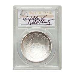 014-P $1 Mitch Williams Signed HOF Coin PCGS MS70