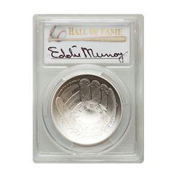 2014-P $1 Eddie Murray Signed HOF Coin PCGS MS70