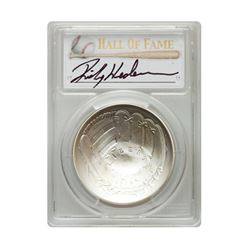 2014-P $1 Rickey Henderson Signed HOF Coin PCGS MS70