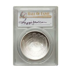 2014-P $1 Reggie Jackson Signed HOF Coin PCGS MS70