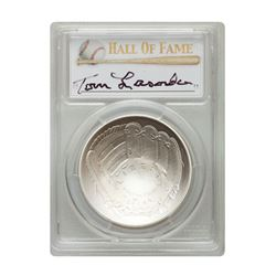 2014-P $1 Tommy Lasorda Signed HOF Coin PCGS MS70