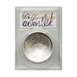 2014-P $1 Carlton Fisk Signed HOF Coin PCGS MS70