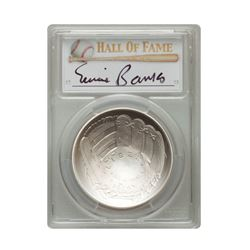 2014-P $1 Ernie Banks Signed HOF Coin PCGS MS70