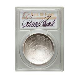 2014-P $1 Johnny Bench Signed HOF Coin PCGS MS70