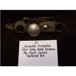Unmarked Hernandez/Silver Inlay Santa Barbara/ Big Flower Concho/ Halfbreed Bit