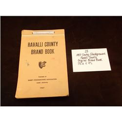 "1957 Darby Stockgrowers/ Ravalli County/ Original Brand Book  5 /12"" W X 9"" L"