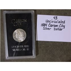 Uncirculated 1884 Carson City Silver Dollar
