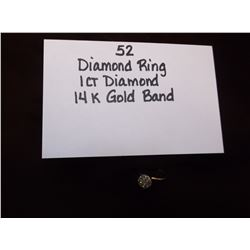 Diamond Ring/1ct Diamond 14k Gold Band