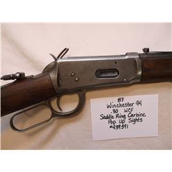 Winchester 94- .30 WCF Saddle Ring Carbine-Pop Up Sights