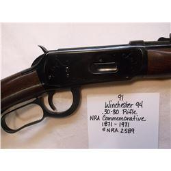 Winchester 94- .30-30 Rifle NRA Commemorative 1871-1971