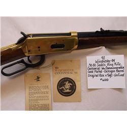 Winchester 94- .30-30 Saddle Ring Rifle-Centennial 66 Commemorative-Gold Plated-Octagon Barrel-Origi