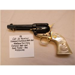 Colt .22 Revolver Diamond Jubilee Statehood- 1889-1964- Montana Territory Centennial 1864-1964- Gold