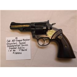 """Colt .357 Trooper Revolver- Inspector's Special-Immigration Service- Diamond Jubilee- 1 of 300- 4"""" B"""