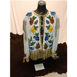 Fully Floral Beaded Fringed Ojibwah Jacket 26LBS