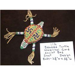 Beaded Turtle Umbilical Cord Amulet Bag