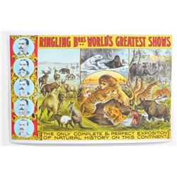 RINGLING BROS. WORLDS GREATEST SHOW ON EARTH CIRCUS POSTER PRINT