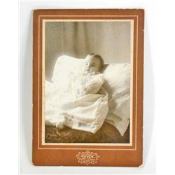 ANTIQUE POST MORTEM BABY CABINET CARD PHOTO