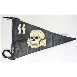 GERMAN NAZI WAFFEN SS OFFICERS STAFF CAR PENNANT